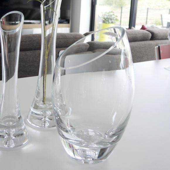 vase en verre souffl transparent verrerie design bruno evrard. Black Bedroom Furniture Sets. Home Design Ideas
