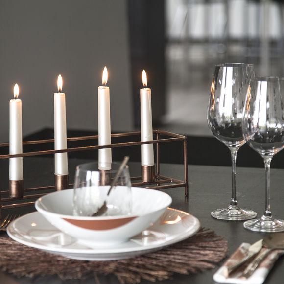 bougeoir tendance en m tal cuivr bruno evrard. Black Bedroom Furniture Sets. Home Design Ideas