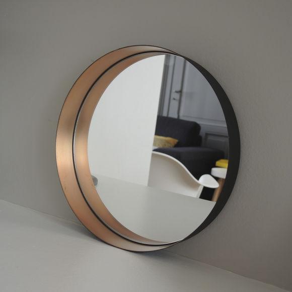 miroir rond en m tal couleur cuivre bruno evrard. Black Bedroom Furniture Sets. Home Design Ideas