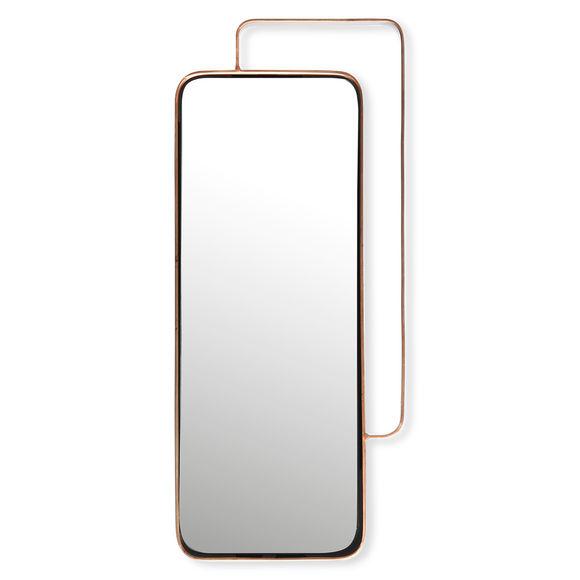 Miroir rectangulaire en métal couleur cuivre 51x24cm