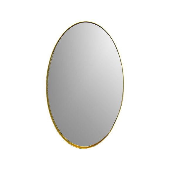 Miroir ovale en métal couleur or 61,5x37,5cm