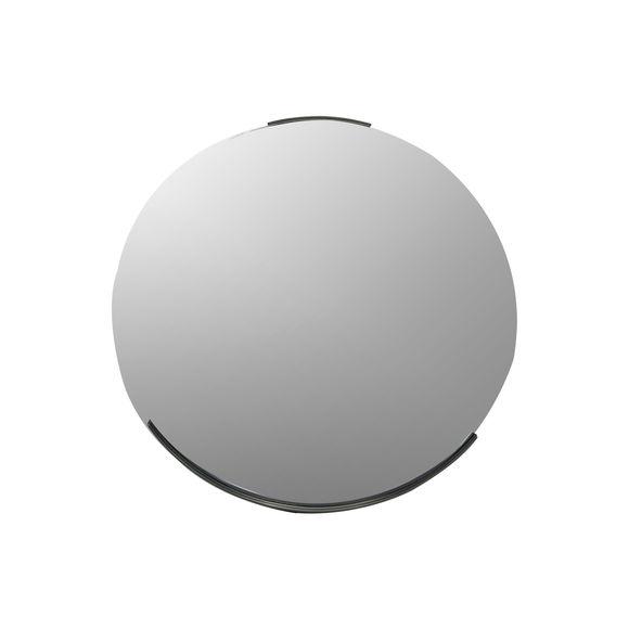 Miroir rond en métal couleur gris 51cm