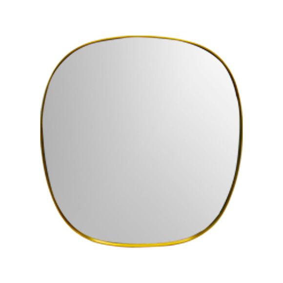 Miroir rectangulaire en métal couleur or 56x50cm