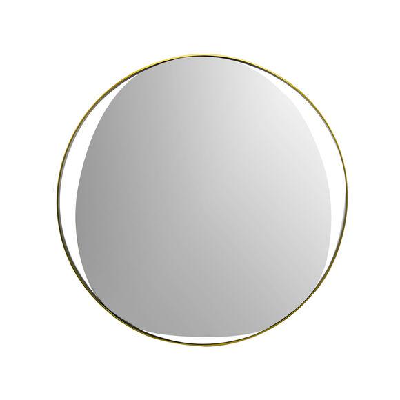 Miroir rond en métal couleur or 60cm