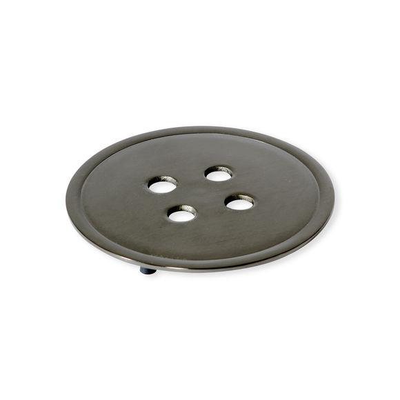 Dessous de plat en acier gris foncé 20cm