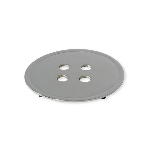 Dessous de plat en acier gris clair 20cm