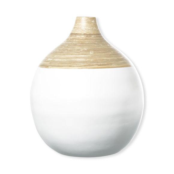 Vase en bambou blanc 40cm