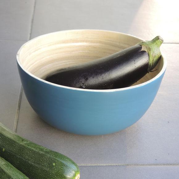 petit saladier en bambou bleu bruno evrard. Black Bedroom Furniture Sets. Home Design Ideas