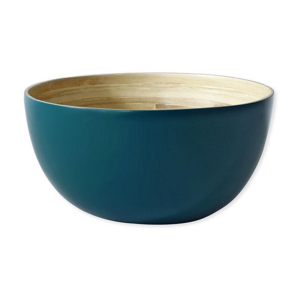 Saladier en bambou bleu 29cm