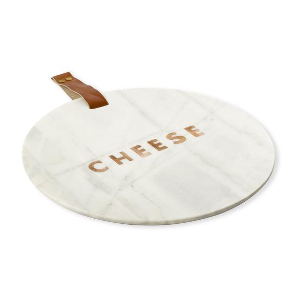 Plateau à fromage en marbre blanc 30cm
