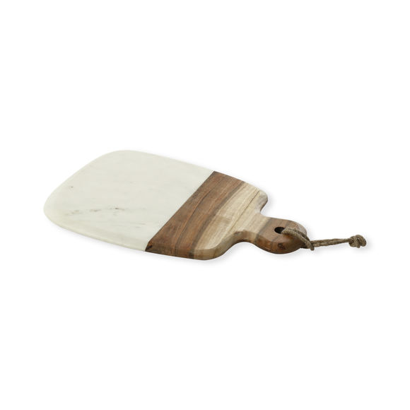 Planche à découper rectangulaire en marbre et bois 32x23cm