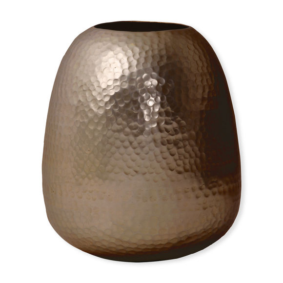 Vase en métal martelé couleur cuivre 33cm