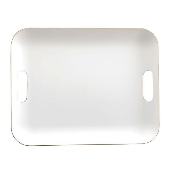 Plateau blanc en bois 45x36cm