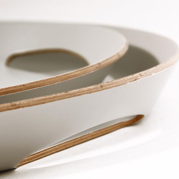 petit plateau ovale en bois design scandinave bruno evrard. Black Bedroom Furniture Sets. Home Design Ideas
