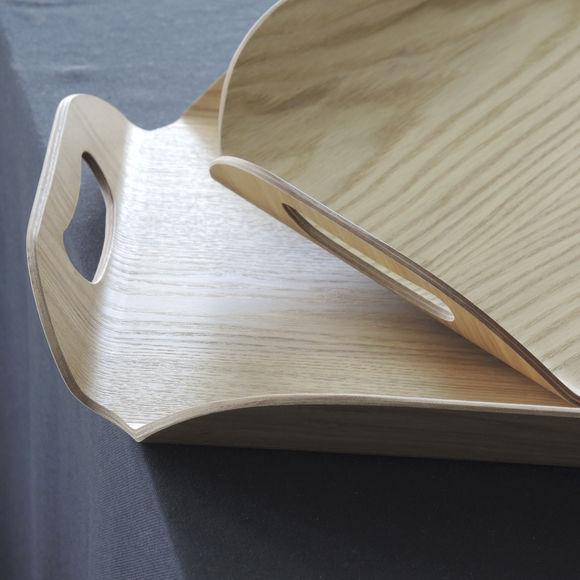 plateau de service rectangulaire en bois grand format bruno evrard. Black Bedroom Furniture Sets. Home Design Ideas