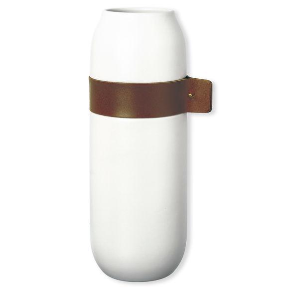 Vase en céramique et cuir 32cm