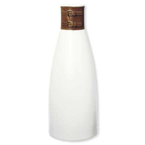 Vase en céramique et cuir 40cm