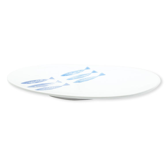 Coupe décorative ovale en céramique 24x39cm