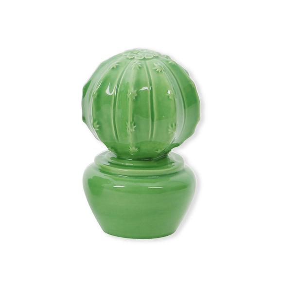 Cactus vert décoratif en céramique 14cm