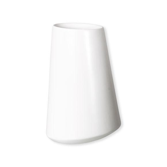 Vase blanc mat en céramique 30cm