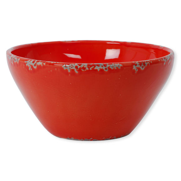 Saladier rouge en céramique 30cm