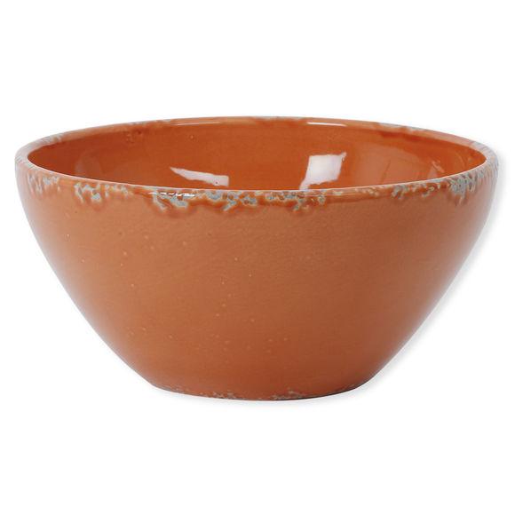 Saladier orange foncé en céramique 30cm