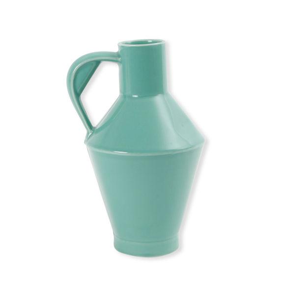 Vase pichet bleu en céramique 26cm