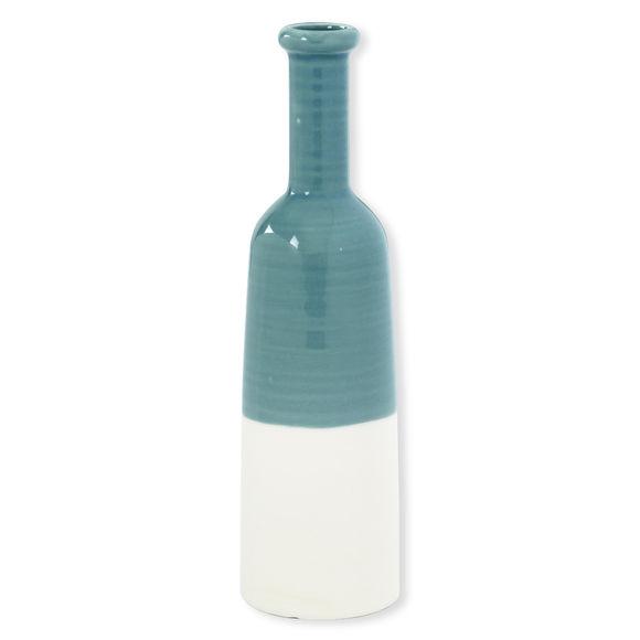 Vase bouteille vert en céramique 35cm