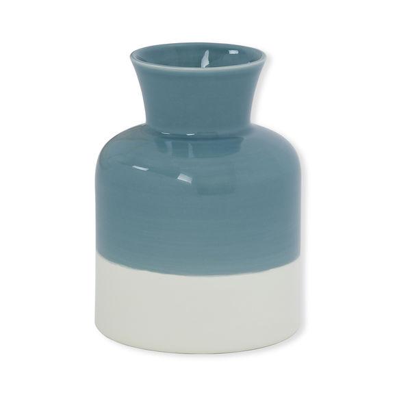 Vase vert en céramique Ht.19cm