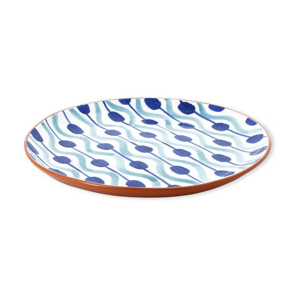 Plat rond plat en céramique motifs boules 32cm
