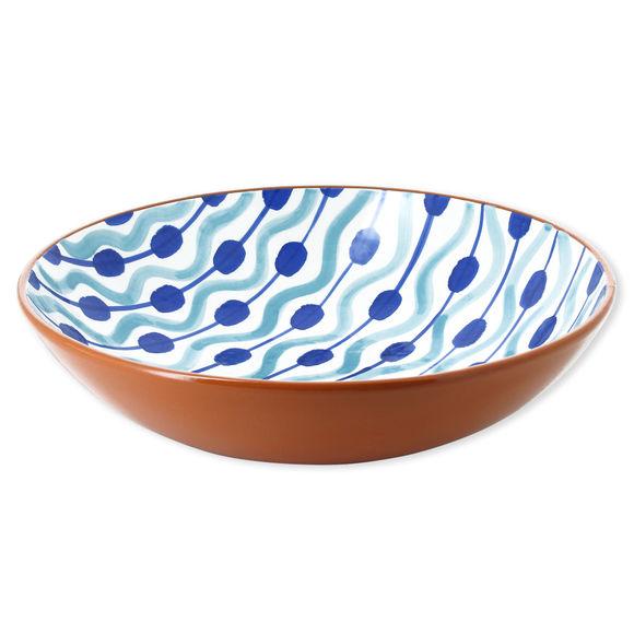 Plat rond creux en céramique motifs boules 36cm