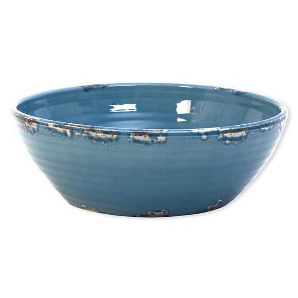 Saladier bleu en céramique 30cm