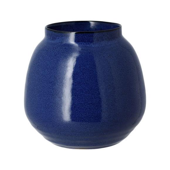 Vase bleu en grès 14cm