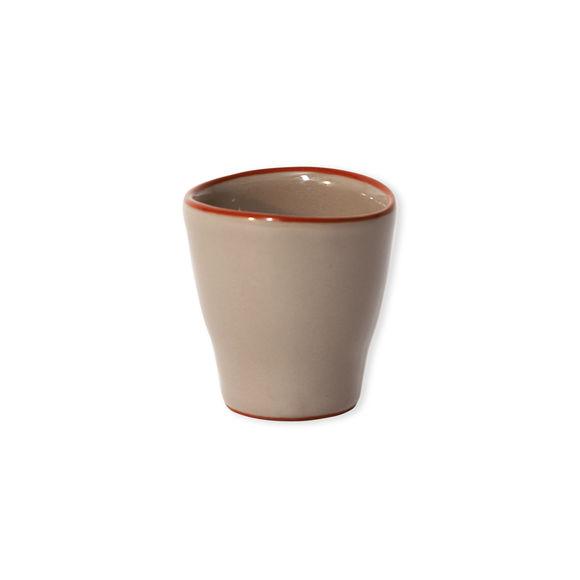 Tasse à expresso mastic en céramique 8cl