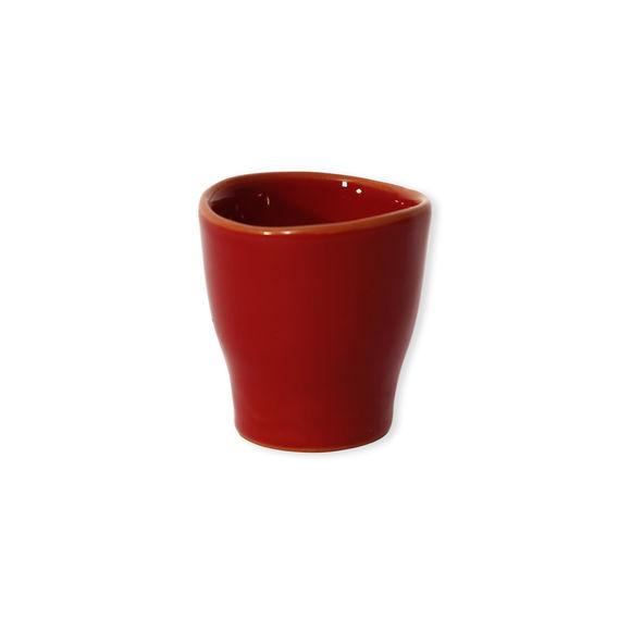 Tasse à expresso rouge en céramique 8cl