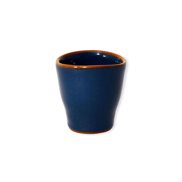 Tasse à expresso marine en céramique 8cl