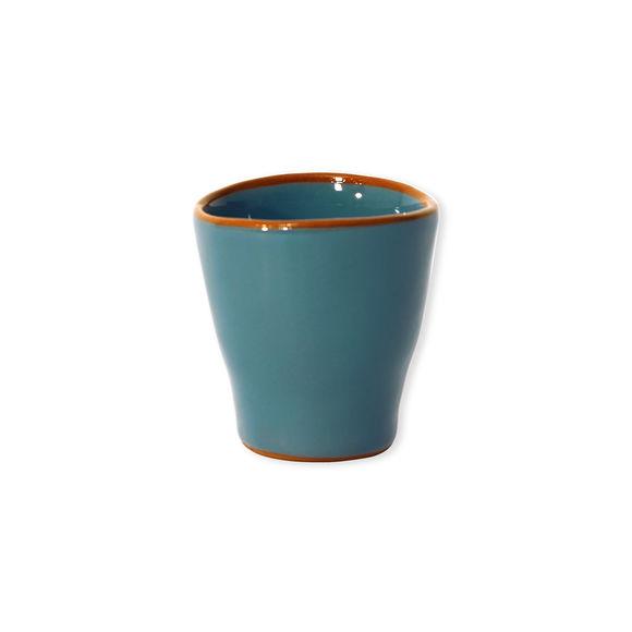 Tasse à expresso turquoise en céramique 8cl