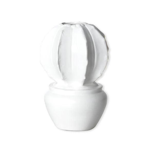 Vase cactus blanc en céramique 18cm