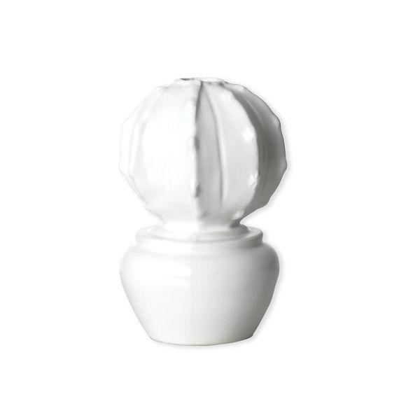 Vase cactus blanc en céramique 15cm