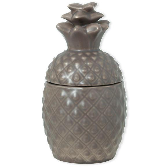 Bonbonnière Ananas taupe en céramique 21x11cm