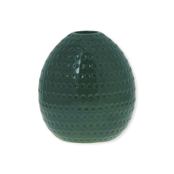 Vase vert en céramique 20cm