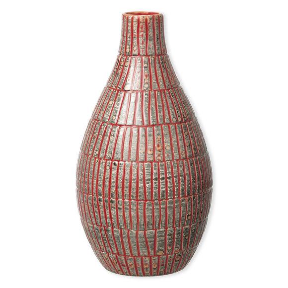 Vase rouge en céramique 31cm