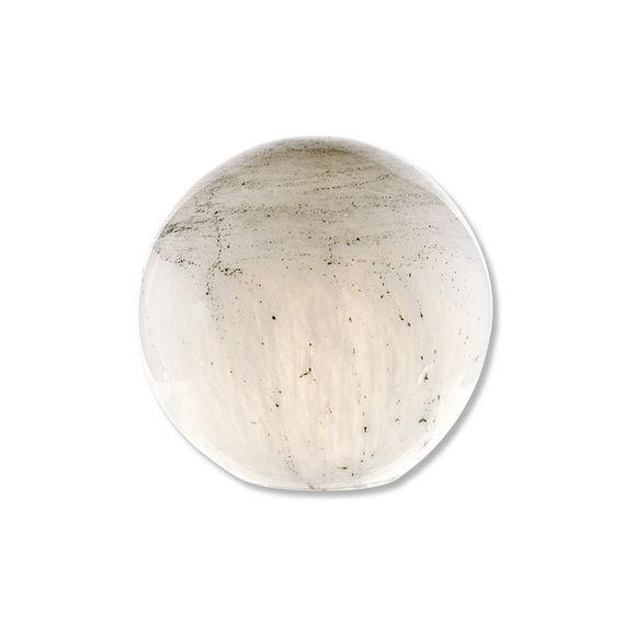 Lampe boule en verre blanc 30cm