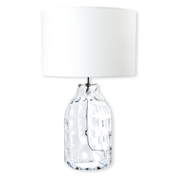 Lampe en verre transparent avec abat-jour 63cm