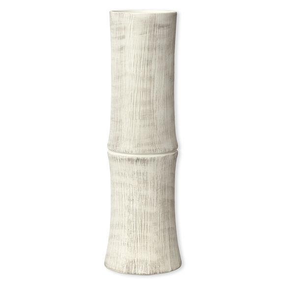 Vase en céramique forme bambou 40cm