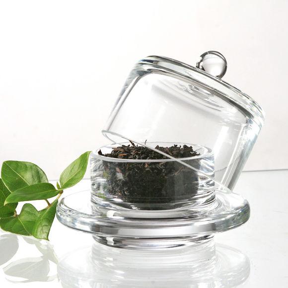 beurrier individuel en verre avec cloche vaisselle. Black Bedroom Furniture Sets. Home Design Ideas