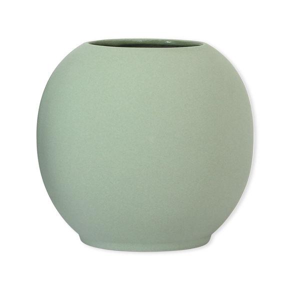 Vase vert boule en céramique 18cm