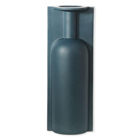 Vase bleu en céramique 35cm