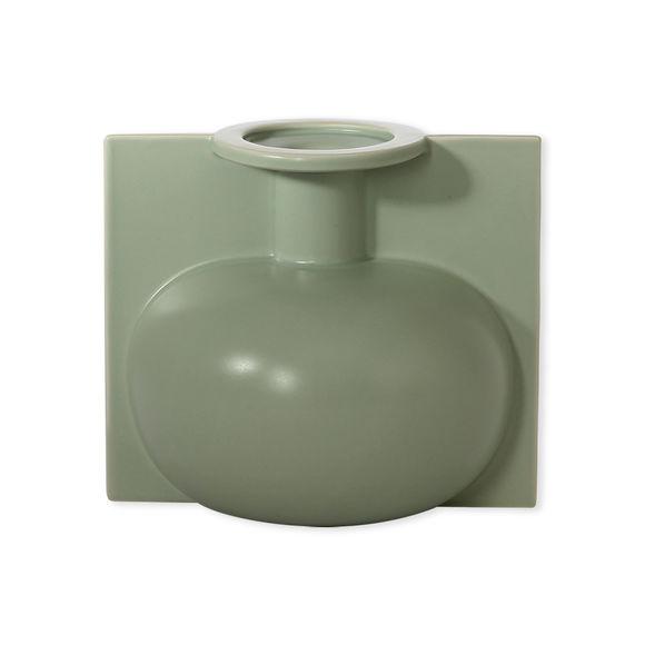 Vase vert en céramique 18cm