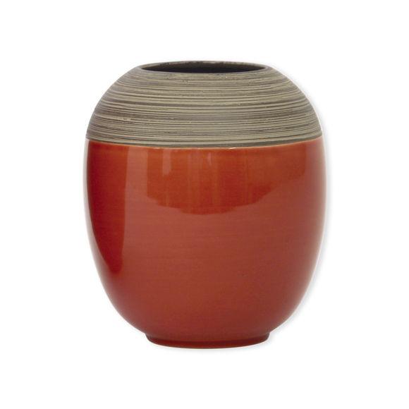 Vase en céramique rouge brique 17cm